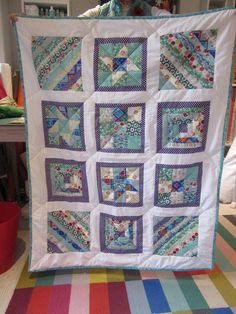 Sylvia's first sampler quilt Small Groups, Workshop, Students, Colours, Quilts, Blanket, Scrappy Quilts, Atelier, Work Shop Garage