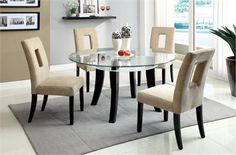 41 Best Round Glass Tables images | Glass round dining table ...