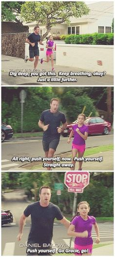 I love when Steve was training Grace