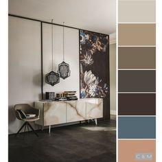 Combinación colores Paleta de color Color Schemes Colour Palettes, Modern Color Palette, Room Color Schemes, Colour Pallete, Beach Paint Colors, Color Plan, Room Interior Design, Colorful Furniture, Bedroom Colors