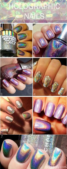 Holographic Nails: A DDG moodboard full of radical digit designs - It's official; I really can't withhold my love for them any longer. I'm talking about hologram nails, the digit trend that's been taking the fashion world