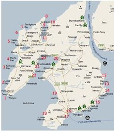 Map of beaches on Islay