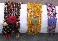beaded crochet bracelets - cute!   Free pattern Yeah!