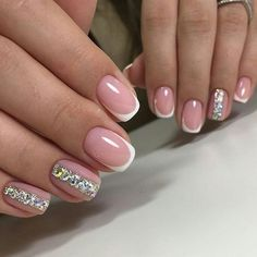What Christmas manicure to choose for a festive mood - My Nails French Nail Designs, Cool Nail Designs, Neutral Nail Art, Nailart, Manicure, Nagellack Design, Wedding Nails Design, French Tip Nails, Bridal Nails