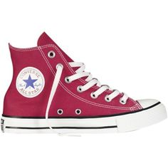 Converse Hi Hero Hi-Top Canvas Trainers , Red found on Polyvore