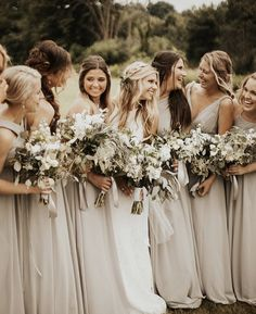 Stunning Neutral Bridesmaid Dresses to Love – Oh Best Day Ever neutral champagne bridesmaid dresses Beige Bridesmaids, Neutral Bridesmaid Dresses, Champagne Bridesmaid Dresses, Wedding Bridesmaids, Wedding Dresses, Dresses Dresses, Fall Dresses, Wedding Decor, Wedding Ideas