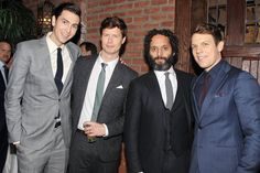 The handsome men of - Nicholas Braun, Anders Holm, Jason Mantzoukas, and Jake Lacey Anders Holm, Dax Shepard, How To Be Single, John Krasinski, Crazy Love, Chris Pratt, Man Candy, Pretty Boys, Sexy Men