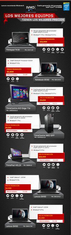 ¡Los mejores equipos tienen los mejores precios con Lenovo!