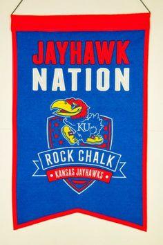 Kansas Jayhawks Banner #RockChalk