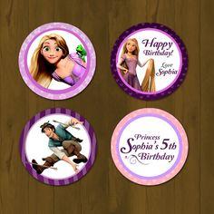 Tangled Rapunzel Cupcake Topper - Rapunzel Tangled Printable Cupcake Topper with Free Cupcake Wrapper (Disney Tangled). $7.00, via Etsy.