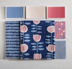 Blue Fabric Coordination | #MaineCottage