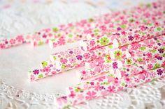 24 paper straw  Flower Paper Straws  Pink  Spring by pingosdoceu