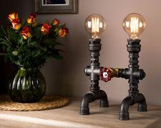 Lampe industriel très tendance avec la main s'allume pour chaque lampe maison Art avec dessin de Pipe Steampunk