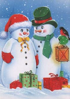 coloring pages winter scene – This christmas ideas concepts was post at UTC … Christmas Scenes, Christmas Pictures, Christmas Snowman, Winter Christmas, Christmas Crafts, Merry Christmas, Frosty The Snowmen, Cute Snowman, Snowman Crafts