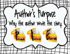 The Picture Book Teacher's Edition: The Importance of Authors Purpose