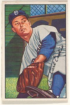 1952 Bowman 70 Carl Erskine Brooklyn Dodgers Baseball Card