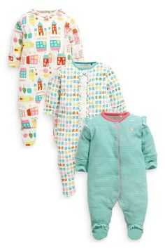 Buy Three Pack House Scene Sleepsuits (0-18mths) online today at Next: Belgium