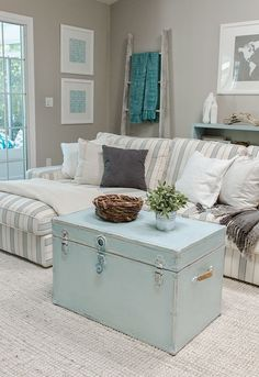 gray walls, living room and Turquoise Home Decor