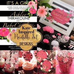 Kate Inspired Printable Set  Baby Shower or by ArtisticAnyaDesigns