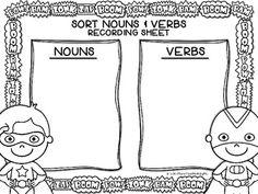 Super Sorting: Nouns & Verbs FREEBIE