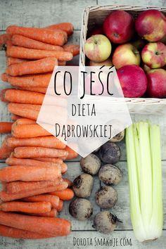 Jadłospis tygodniowy - dieta dr Dąbrowskiej - Dorota Smakuje Nutella, Carrots, Food And Drink, Menu, Vegetarian, Healthy Recipes, Dishes, Fruit, Vegetables