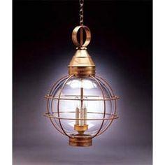 Antique Brass 14-Inch Outdoor Hanging Lantern
