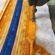 Quilting just a bit of sunshine on this dreary day. #wip #annbrauer #sewing…
