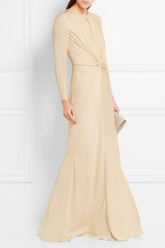 ALEXANDER MCQUEEN Knotted cady gown$2,995