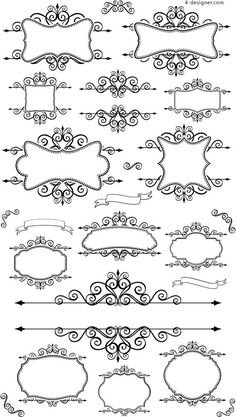 Black lace lines vector material