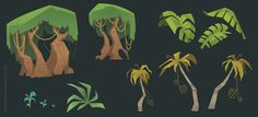 Some jungle elements for a project at work. Have a good day everyone!