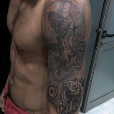 Underwater tattoo