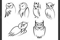 Image result for simple owl outline tattoo