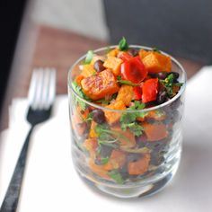 Roasted Sweet Potato Salad #vegan