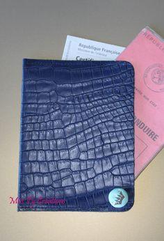Etui en cuir pour permis de conduire et carte grise : Porte-monnaie, portefeuilles par miss-ty-creations