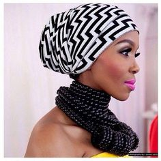 A head wrap is such a fascinating accessory for self expression and style. You can tie a scarf with just about any outfit from contemporary to ethnic. Head wraps, scarves and bandannas come in vari… Turbans, Headscarves, Turban Headbands, Modele Hijab, African Head Wraps, Head Wrap Scarf, Turban Style, African Beauty, African Style