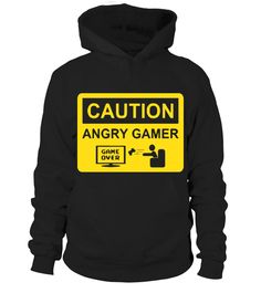 Caution- Angry Gamer #gift #idea #shirt #image #music #guitar #sing #art #mugs #new #tv #cool #videogames