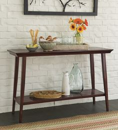 Weather-Resistant Aluminum Console Table For Indoor Or Outdoor Use - $225 with shipping