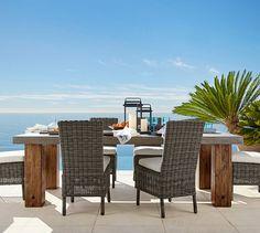 Abbott Chunky Leg Dining Table & Huntington Side Chair Set | Pottery Barn