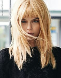 Long Blonde Hairstyles With Bangs Simple Long Blonde Hair With Irregular Layers 2019 Hairstyles With Bangs, Cool Hairstyles, Blonde Hairstyles, Short Curly Hair, Curly Hair Styles, Blonde Hair With Bangs, Great Hair, Hair Inspiration, Hair Cuts