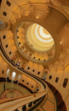 Texas State Capital Building, USA - Dome interior.