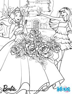 Keira And Tori Transformation Coloring Page More Barbie The Princess Popstar Pages