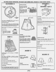 Herbie's Doll Sewing, Knitting & Crochet Pattern Collection: Vintage McCALLS no 7137 - 1960's Barbie Doll's Instant Wardrobe & similar shape dolls