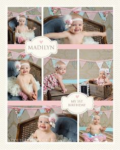 """Shabby Chic 1 year old girl photo session.  This is ADORABLE! (My daughter is also Madilynn, just with an extra """"n""""!!)"""