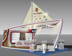 San Miguel Booth - Restaurant & Bar 2011 by Calvin Tsoi, via Behance