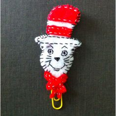 Felt Cat in the Hat bookmark!
