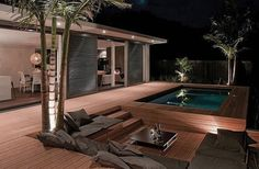 Exciting Deck Ideas: Enjoy a Relaxing: Fascinating Outdor Patio Design with Wooden Deck and Pool