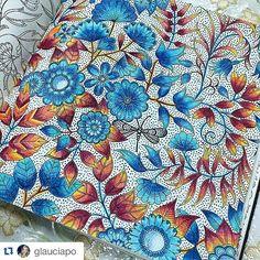 Johanna Basford - Secret Garden - flowers