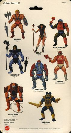 The back of He-Man masters of the universe figure packaging