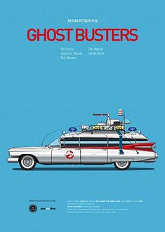 Ghost Busters car movie poster, art print Cars And Films, home decor prints, car print – Autos online Famous Movie Cars, Iconic Movies, Popular Movies, Good Movies, Cult Movies, Funny Movies, Poster Series, Movie Poster Art, Tv Series