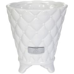Lene Bjerre Precious Flower Pot - White - Large ($28) ❤ liked on Polyvore featuring home, home decor, white, white home accessories, ceramic flower pots, white ceramic flower pots, inspirational home decor and white plant pots